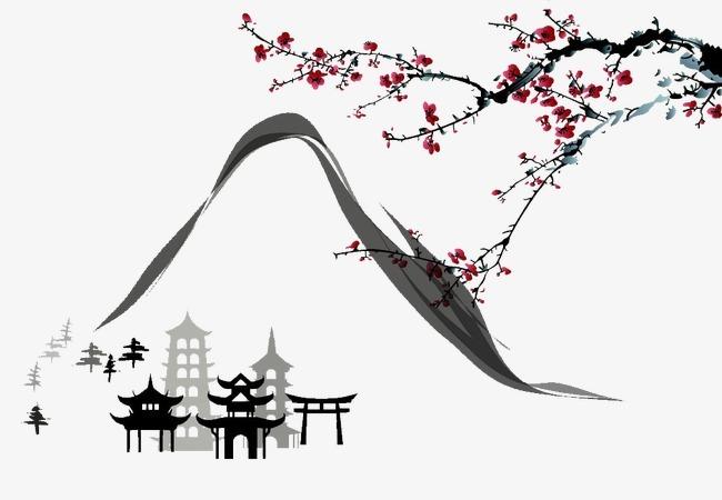 搜图中国提供独家原创日本特色风景水墨画下载,此素材图片已被下载9次