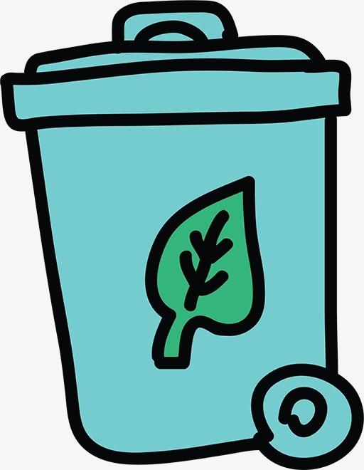 搜图中国 元素 >卡通垃圾桶  手绘垃圾桶     简笔画   蓝色垃圾桶