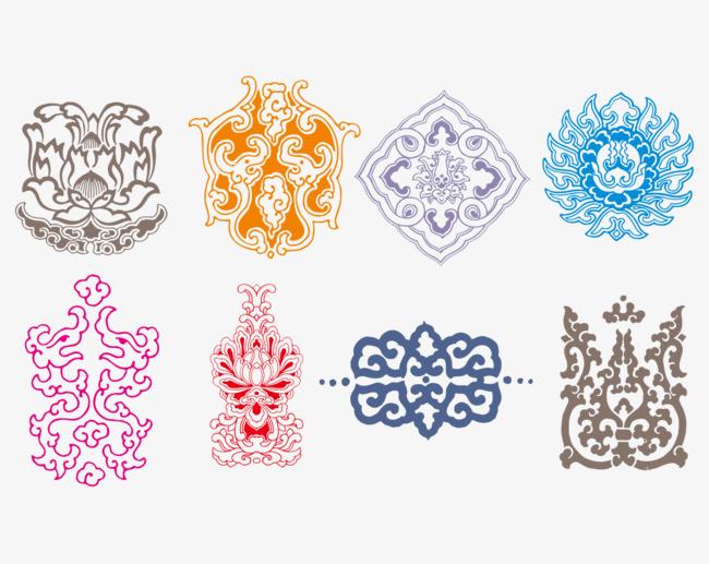 搜图中国 元素 >中国风纹样  传统图案中国传统素材传统底纹剪纸图腾