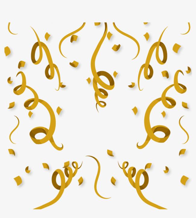金色丝带 缎带 圣诞素材 矢量 【本作品下载内容为: 金色彩带模板】