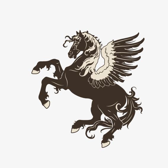 搜图中国 元素 >长翅膀的马  矢量 动物 小马 翅膀 【本作品下载内容