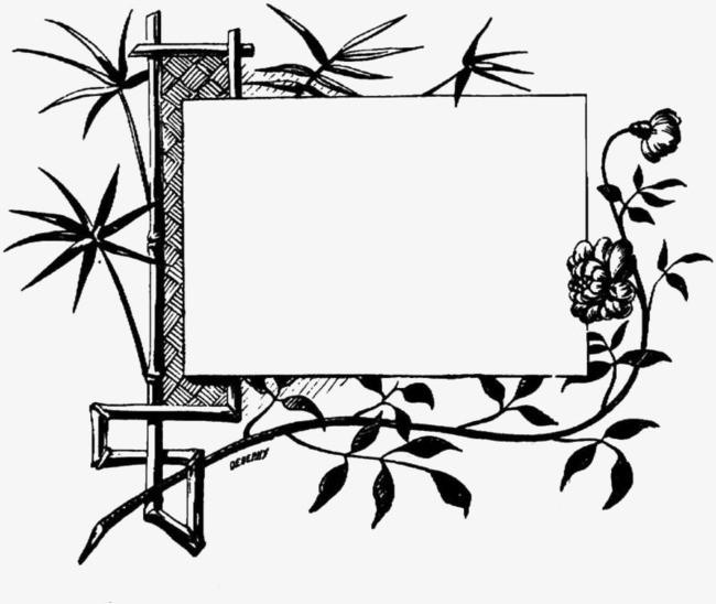 搜图中国提供独家原创黑白竹子边框留白插图下载,此素材图片已被下载1