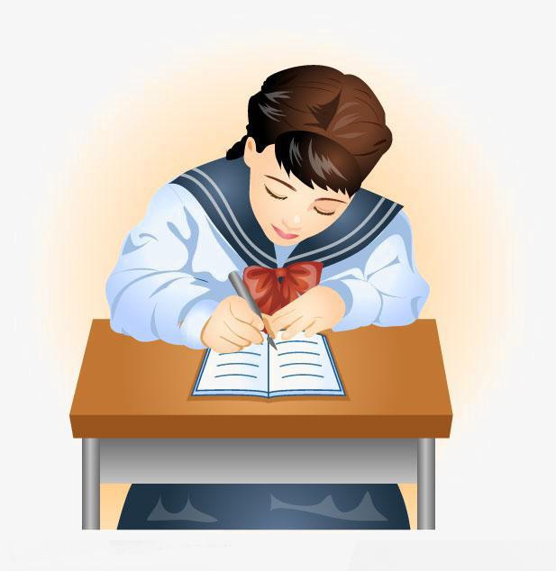 写作业的女孩 认真写作业 女孩 写作业 作业图片