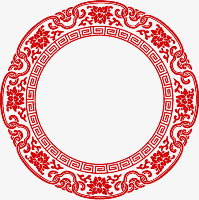 圆形花纹新年剪纸