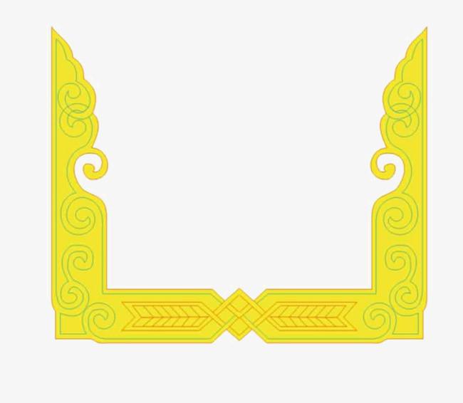 搜图中国 元素 > 黄金边框  藏文 藏族花纹 黄金边框素材 黄金框架