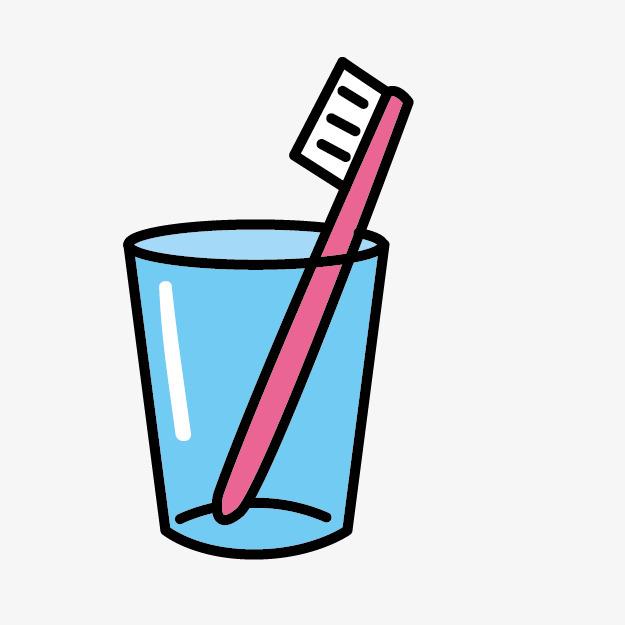 搜图中国 元素 > 卡通牙刷水杯  卡通牙刷 手绘牙刷 卡通 卡通水杯