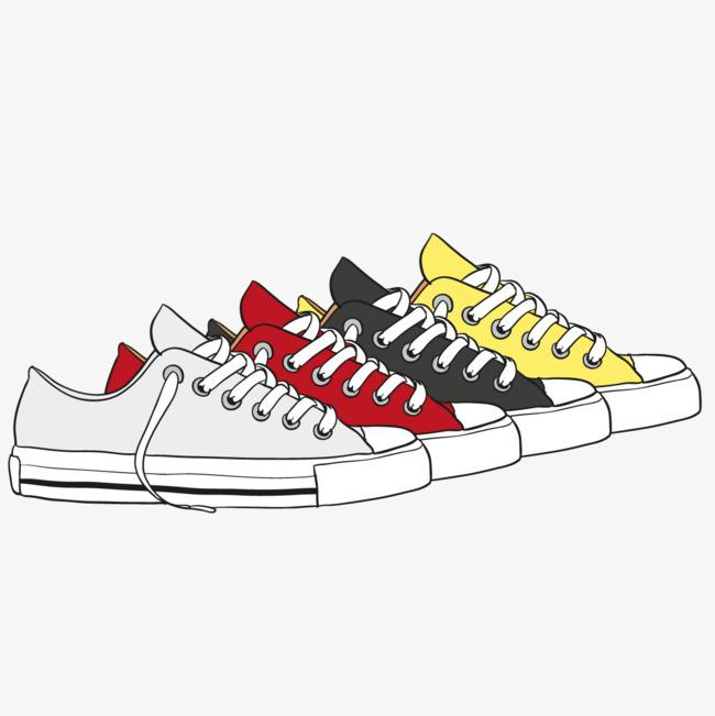 搜图中国 元素 >矢量手绘板鞋  运动鞋 布鞋 鞋带 匡威 【本作品下载