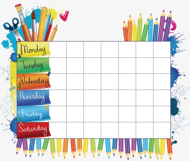 矢量表格框 矢量表格框素材 矢量边框 表格框素材 课程表 表格 表格