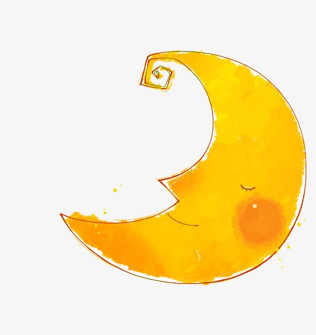搜图中国 元素 >卡通月亮矢量  卡通 月亮 幼儿园 可爱 童真 png素材图片