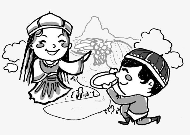 搜图中国 元素 > 儿童简笔画  新疆 吐鲁番 儿童 简笔画 新疆人 【本