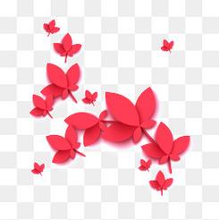 時尚創意中秋節海報花瓣元素