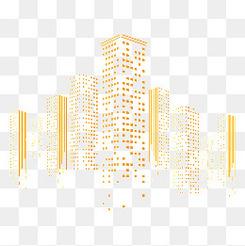 矢量方塊拼接建筑