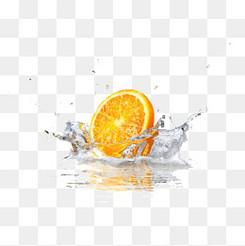 水里的桔子