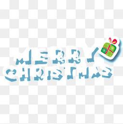 英文圣诞艺术字