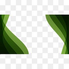 绿色动感波浪纹素材