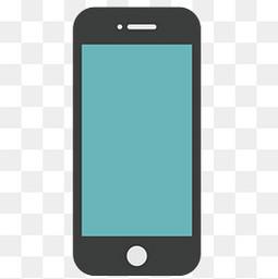 手绘扁平iphone苹果手机