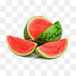 切开的红西瓜