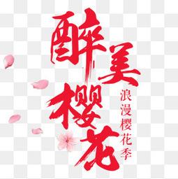 醉美櫻花旅游海報