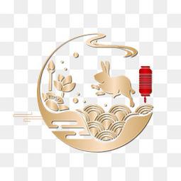 中秋节玉兔矢量图免费下载