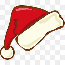 红色卡通圣诞帽
