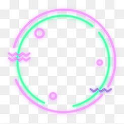 矢量圓形霓虹燈酷炫邊框