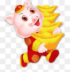 2019年豬年可愛豬動物