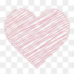 心形爱心线条粉色浪漫情人节