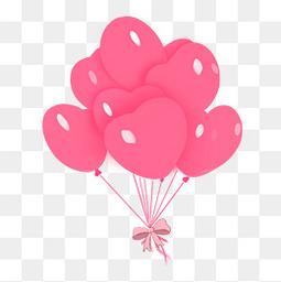情人節七夕粉色氣球
