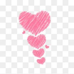情人節七夕粉色線條愛心