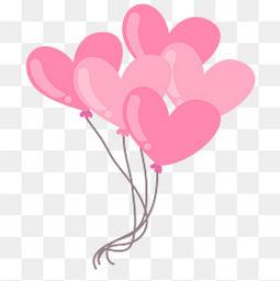 矢量裝飾漂浮的桃心氣球元素