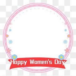 三八婦女節女神節女生節女王節文字框