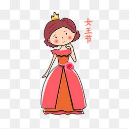 三八妇女节女神节女生节人物元素
