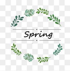春天美丽手绘花环框