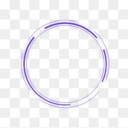 电商网站蓝色外发光科技感光圈