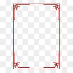 黑色新中式對稱邊框免摳元素下載矢量邊框