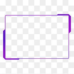 藍紫色漸變發光現代幾何方形科技