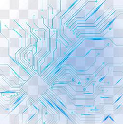 藍色科技電子元件電路光效