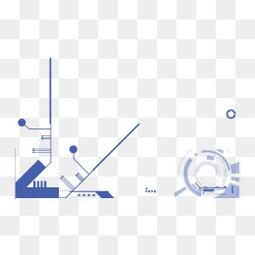 科技数码几何线条
