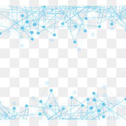 蓝色何线条