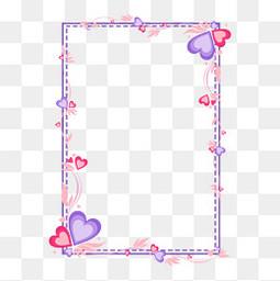 粉紅色心形邊框