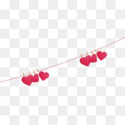520情人节海报漂浮爱心装饰元素