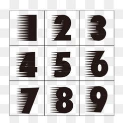 黑色简约数字设计