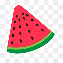 卡通三角西瓜水果设计