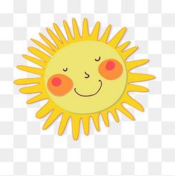 卡通太阳贴纸设计