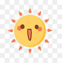 立夏卡通可爱太阳元素