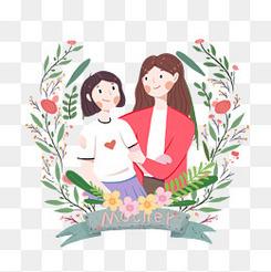 母亲节可爱插画