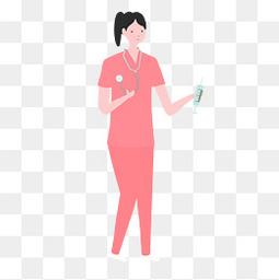 国际护士节粉色护士服