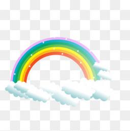 彩虹矢量云彩卡通元素