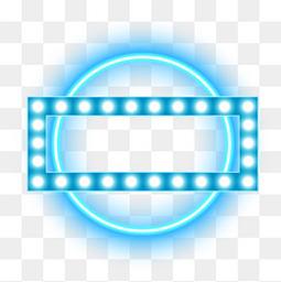 电商边框荧光灯蓝色灯光霓虹灯