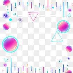 电商节日渐变圆球三角元素